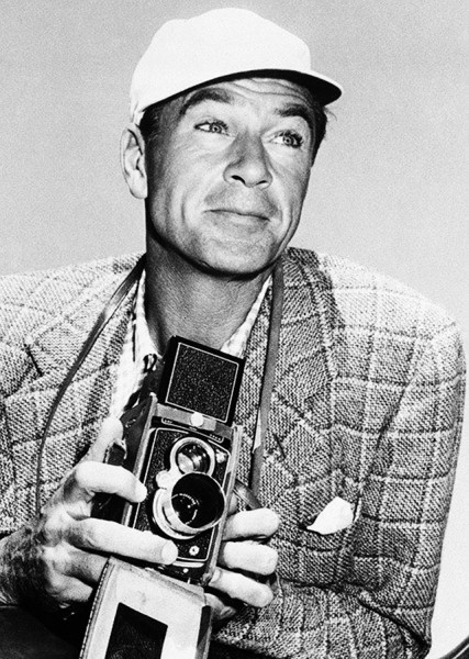 Gary Cooper & Rolleiflex D, 1949