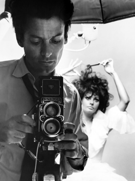 Richard Avedon and Sophia Loren, New York, 1966